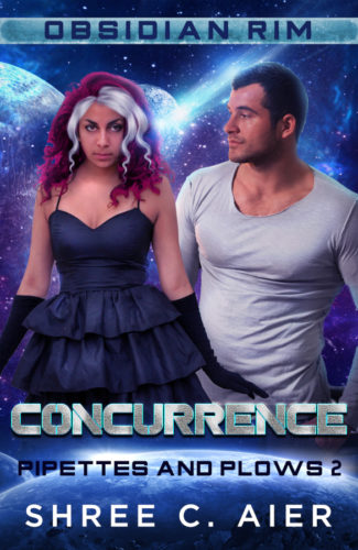 Cover for Concurrence by Shree Aier, Obsidian RIm series
